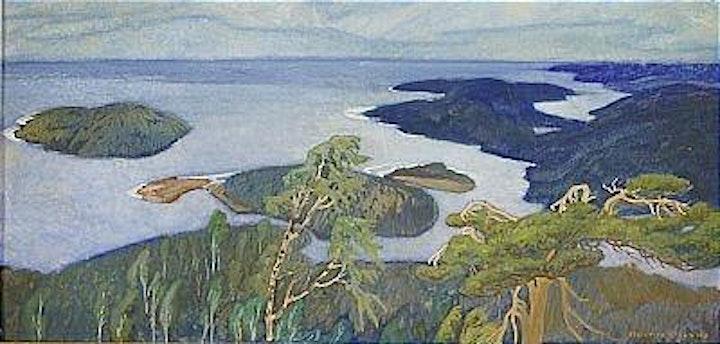 Friluftsmåleri i Höga Kusten bild