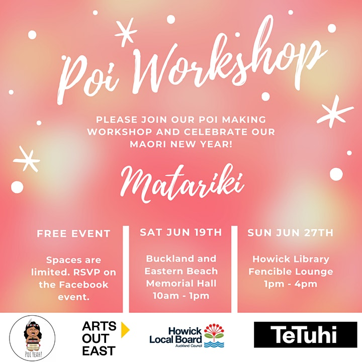 FREE Matariki DIY Poi Workshop image