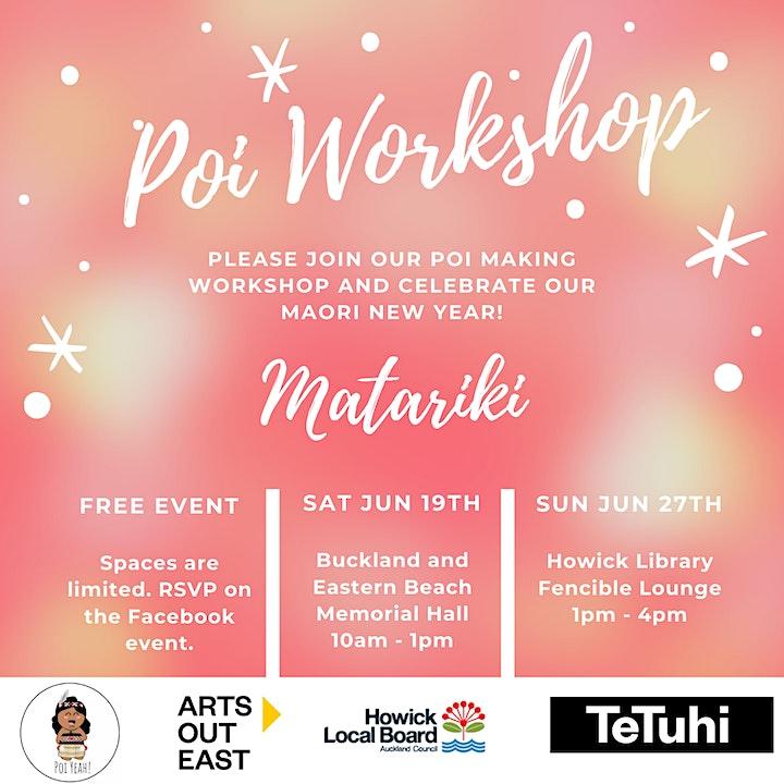 FREE Matariki DIY Poi Workshop image