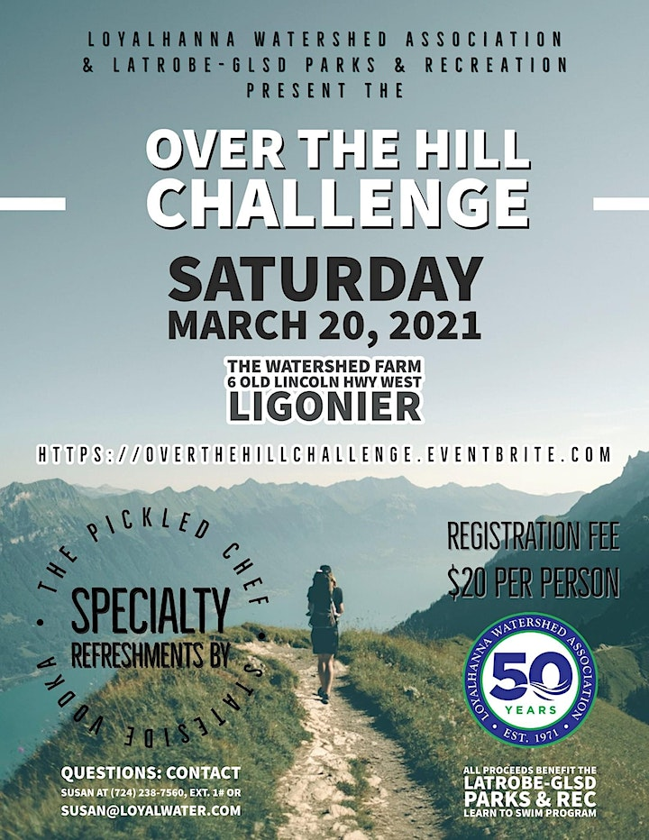 """Over the Hill"" Challenge at the Watershed Farm image"