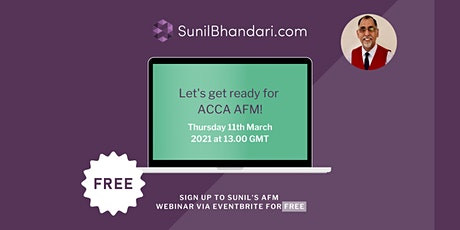 Let's Get Ready For ACCA AFM! tickets