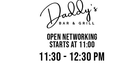Upper Tampa Bay, Oldsmar Professional Business Networking Daddy's Grill tickets