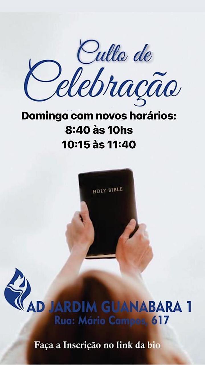 Imagem do evento 1° Culto de Celebração - Domingo Manhã - 8:40h