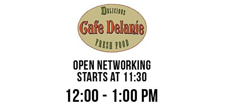 Professional Business Networking in Sabal Park at Cafe Delanie tickets