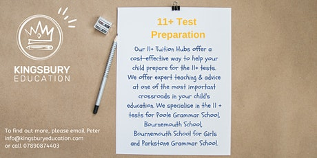 11+ Weekly Tuition Hubs- Poole tickets