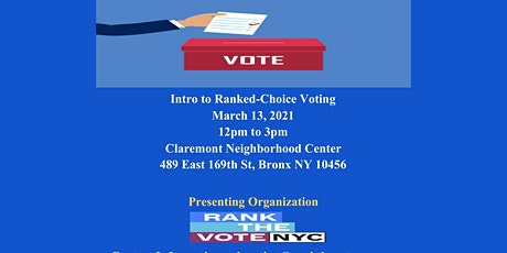 In Person Ranked Choice Voting  (RCV) Workshop tickets