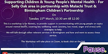 Supporting Children & Young People's Mental Health tickets