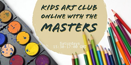 "Kid's Art Club ""Online with the Masters"" 7+   This Week:  Roy Lichtenstein tickets"