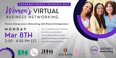 International Women's Day Virtual Business Networking Celebration tickets