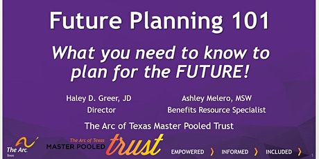 Session 1- Future Planning 101- Person Centered Thinking and Planning tickets
