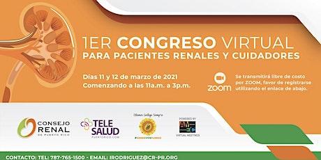 1er Congreso Virtual para Pacientes Renales y Cuidadores entradas