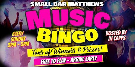 Sunday Music Bingo at Small Bar Matthews tickets