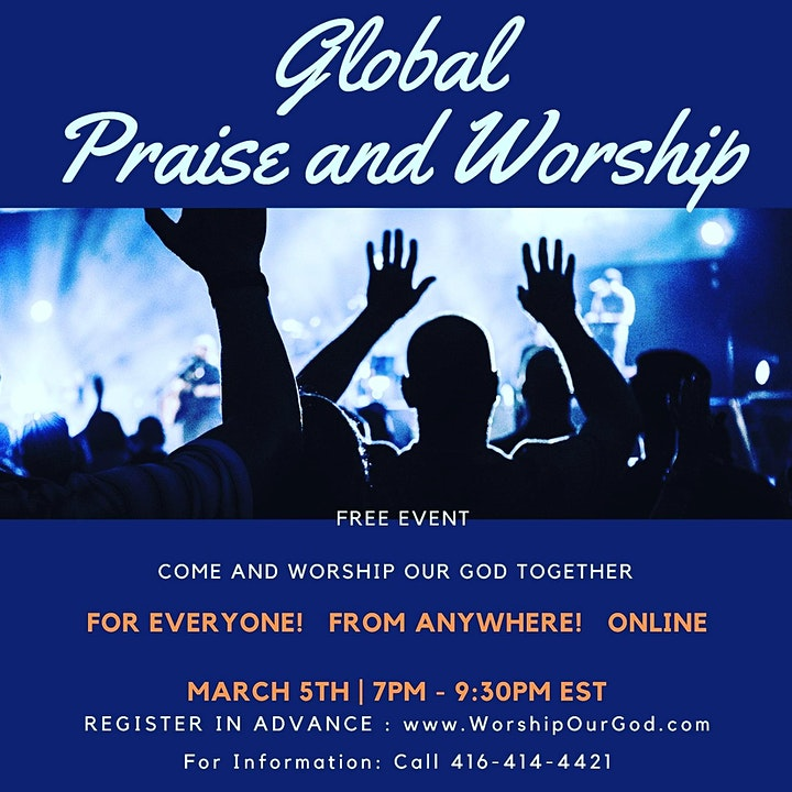 Global Praise and Worship (Free Event Open to Everyone, Everywhere) Mar.5 image