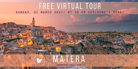 FREE VIRTUAL TOUR: MATERA- Italy's Magical City of Stones tickets
