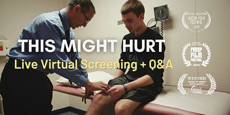 Live Virtual Screening of THIS MIGHT HURT + Q&A w Dr. Schubiner (Euros) tickets