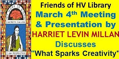 Friends of HV Library March 4 Zoom Meeting & Speaker & March 6 Book Event tickets