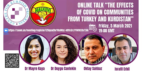 THE EFFECTS OF COVID ON COMMUNITIES FROM TURKEY AND KURDISTAN tickets