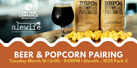 Beer & Popcorn Pairing with Captain Lawrence tickets