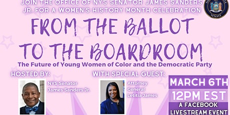 Ballot to the Boardroom/Future of Young Women of Color and Democratic Party tickets