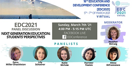 Panel discussion: Next Generation Education - Students' perspectives tickets