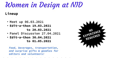 Women in Design @ NID Ahmedabad :  Meet-up + Edit-a-thon tickets