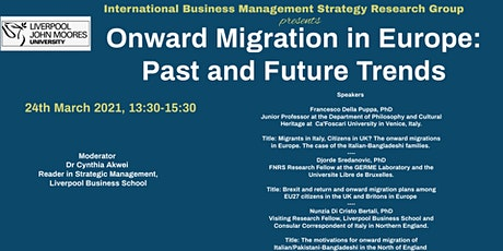 Onward Migration in Europe- Past and Future trends tickets