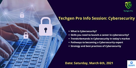 Techgen Pro Information Session: Cybersecurity tickets