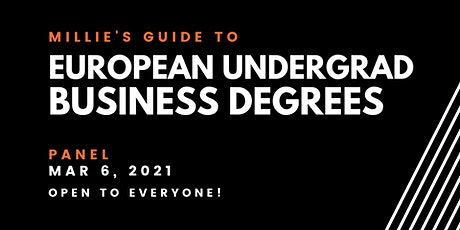 PANEL | Millie's Guide to European Undergraduate Business Degrees tickets