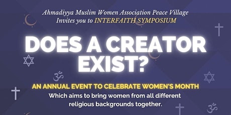 Does a Creator Exist - Women's Only Interfaith Conference tickets