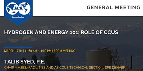 SPE Denver March General Meeting tickets