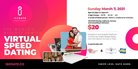 Isodate's Worlds Biggest Jewish Virtual Speed Dating Event. tickets