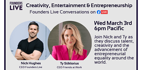 Founders Live: A Conversation with Ty Stiklorius tickets