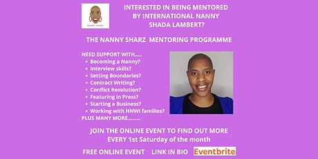 INTERESTED IN BEING MENTORED BY INTERNATIONAL NANNY SHADA LAMBERT? tickets