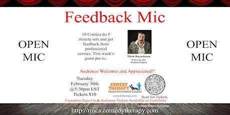 Feedback Open Mic - Mark Riccadonna - Mar 30 tickets
