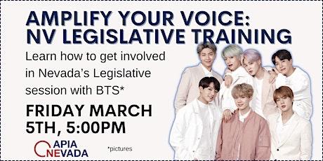 Amplify your Voice: NV Legislative Training tickets