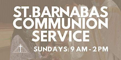 St. Barnabas Communion Service (Last Names A-C) billets