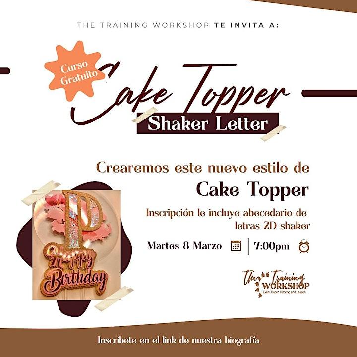 Imagen de Taller Gratuito Cake topper shaker letter