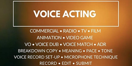 Voice Acting (TV/Film/Radio/Commercial/Video Game): tickets