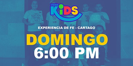 Kids Cartago. Experiencia de Fe  6:00pm boletos