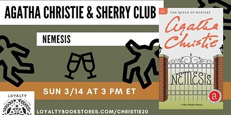 Agatha Christie + Sherry Club chat Nemesis tickets