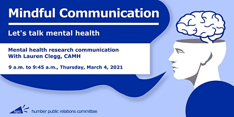 Mindful Communication: Session 1, Mental health research communication tickets