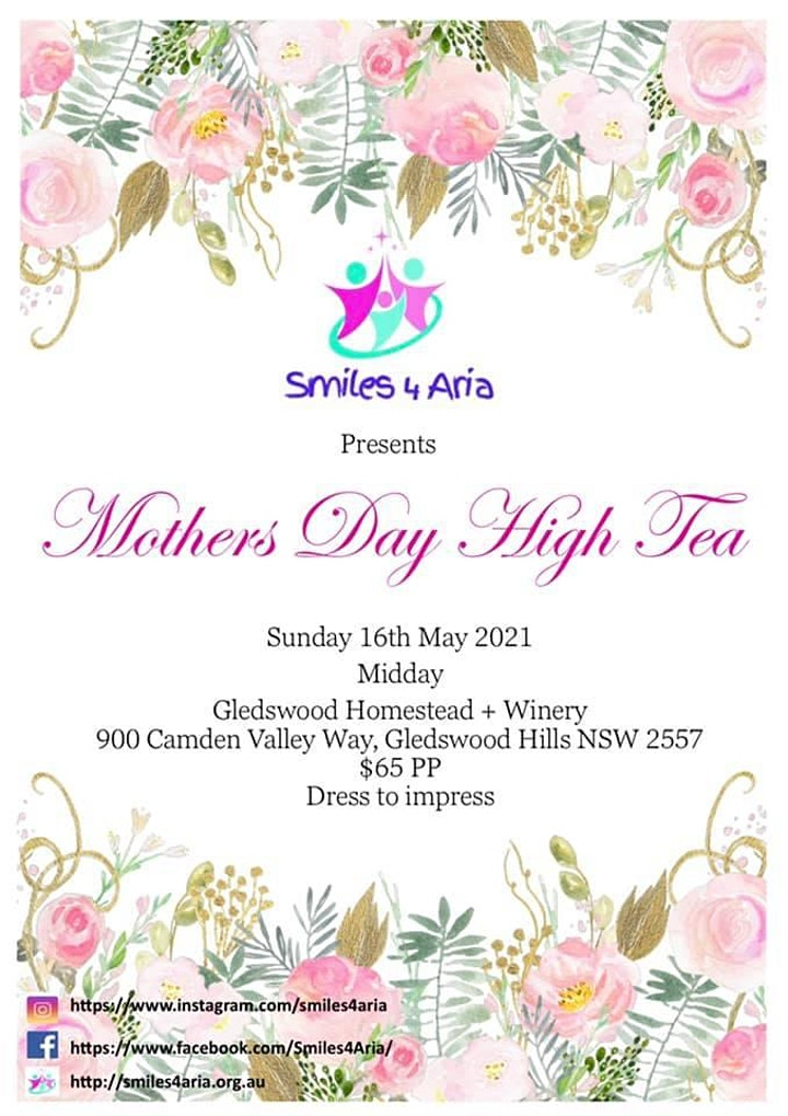 Smiles 4 Aria Mothers Day High Tea image