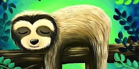 Acrylic Lazy Sloth @ Buffalo RiverWorks Paint Night tickets