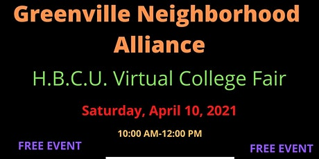 Greenville Neighborhood Alliance -H.B.C.U. Virtual College Fair tickets