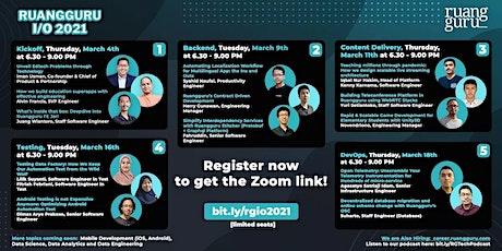 Ruangguru I/O 2021 - Coming soon Data & Mobile Dev Talks! tickets