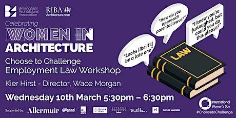 Choose to Challenge: Employment Law Workshop tickets
