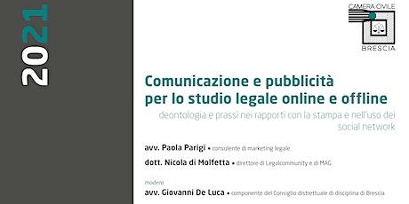 Comunicazione e pubblicità per lo studio legale online e offline. biglietti