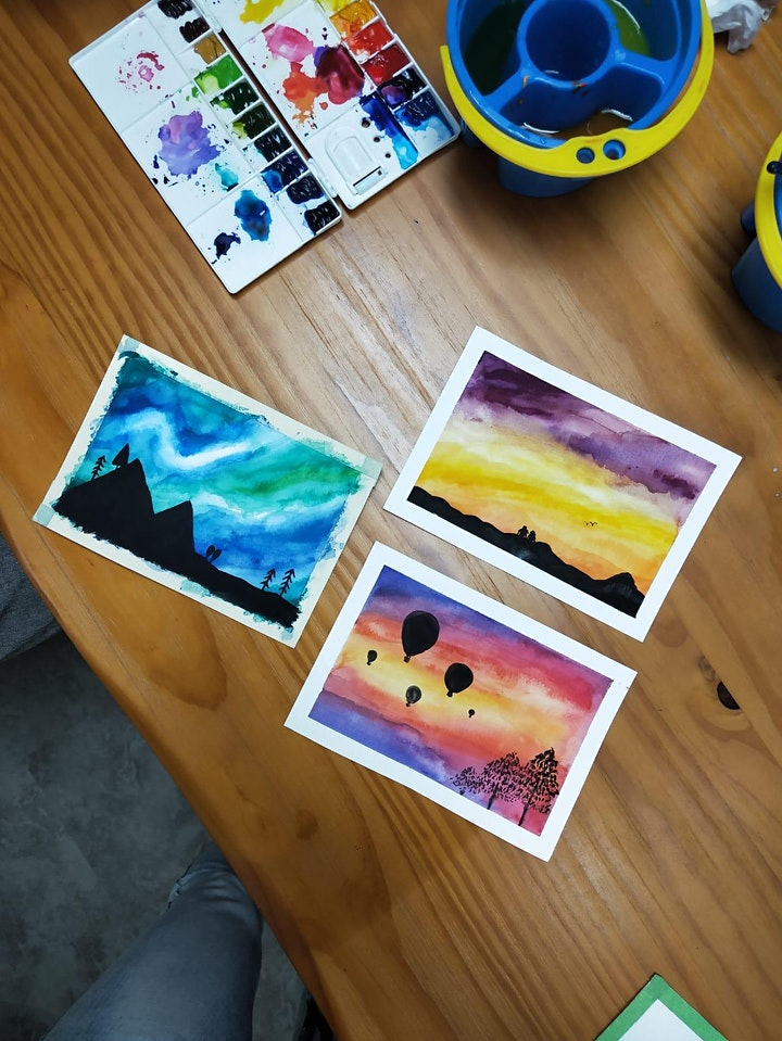 March Holiday: Galaxy Watercolour Painting for Beginners (Parent & Child) image