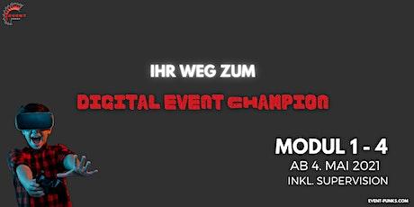 Ihr Weg zum digitalen Event Champion - Qualifizierungsprogramm komplett Tickets
