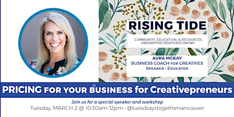 Business PRICING Coaching: Networking + Education Creative Entrepreneurs tickets